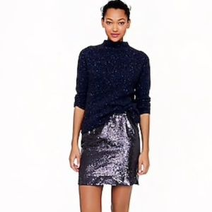 J. Crew Shirttail Sequin Mini Skirt
